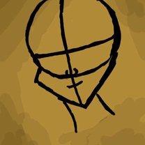 rysowanie twarzy postaci - krok 2.