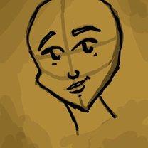 rysowanie twarzy postaci - krok 3.