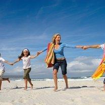 zdjęcie na plaży - rodzina
