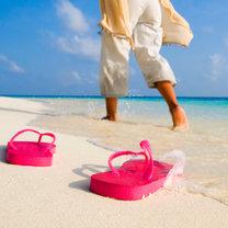 zdjęcie na plaży - sandały