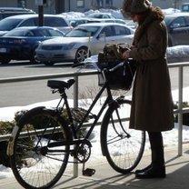 jazda na rowerze zimą