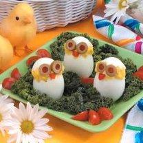 potrawy wielkanocne dla dzieci - jajka kurczaki