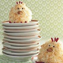 babeczki w kształcie kurczaków na Wielkanoc