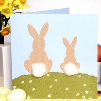 kartka wielkanocna z króliczkiem