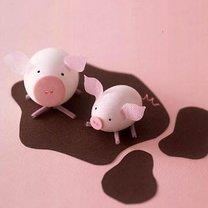 pisanki świnki