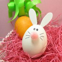 pisanka królik z marchewką