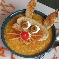 zupa marchewkowa z zajączkiem