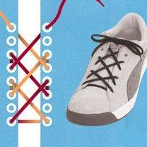 sznurówki - krzyżyk.