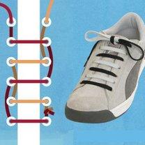 sznurówki - dwukolorowe.
