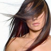 proste włosy