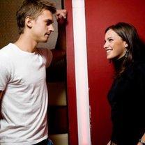 flirtująca para