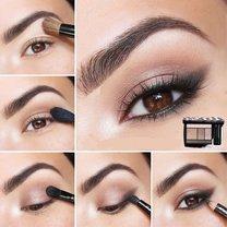 makijaż brązowych oczu - krok 4