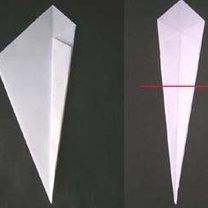 łabędź origami - krok 3.