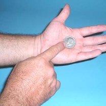 sztuczka z monetą