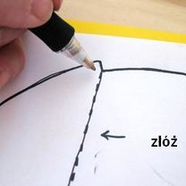 nanieś wzór na żółty papier
