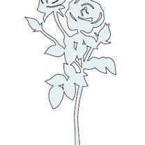 szablon róży