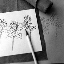 wycinanie kwiatka - krok 1.