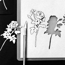 wycinanie kwiatka - krok 2.