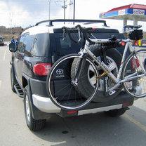 bagażnik rowerowy na koło zapasowe