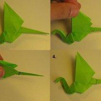 smok origami - krok 13.