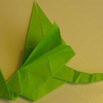 smok origami - krok 15.