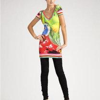legginsy z krótką tuniką dla kobiety niskiej