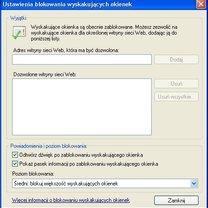Blokada wyskakujących okienek w IE