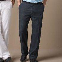 spodnie męskie - mężczyzna niski i postawny