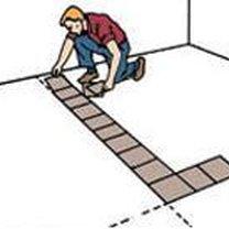 kładzenie płytek podłogowych - krok 3.