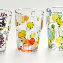 malowane szklanki