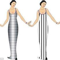 Sukienka w paski poziome i pionowe