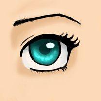 oko anime narysowane w Photoshopie