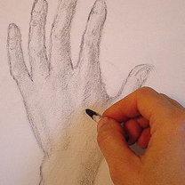 rysunek dłoni