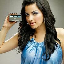 makijaż shock blue