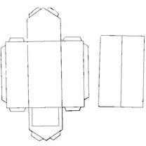 Garaż z papieru - wzór