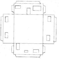 Parterowy dom z papieru - wzór 1