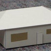 Duży, parterowy dom z papieru