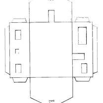 Duży, parterowy dom z papieru - wzór 1