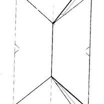 Duży, parterowy dom z papieru - wzór 2