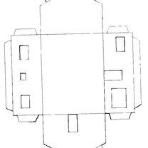 Dom z papieru z kominem - wzór 1