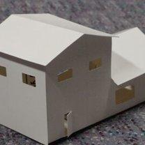 Piętrowy dom z papieru