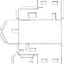 Piętrowy dom z papieru - wzór 1