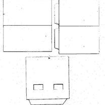 Piętrowy dom z papieru - wzór 2
