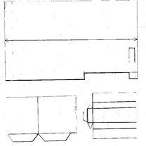 Dom z papieru parterowy w kształcie litery L  - wzór 2
