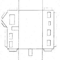 Dom z parteru z wymyślnym dachem - wzór 1