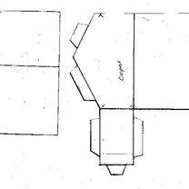 Dom z parteru z wymyślnym dachem - wzór 3