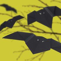 Nietoperze origami na Halloween