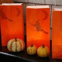 papierowe lampiony na Halloween
