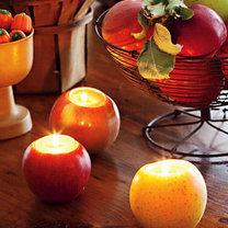 Świeczniki z jabłek