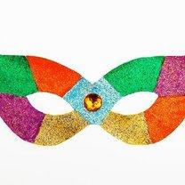 Kolorowa maska na bal karnawałowy